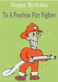 Fire Fighter - Greeting Card